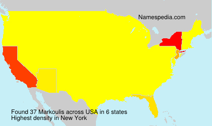 Surname Markoulis in USA