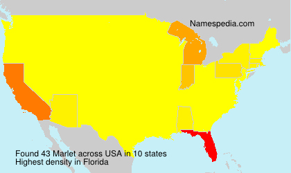 Surname Marlet in USA