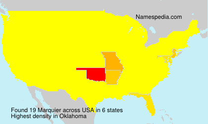 Surname Marquier in USA