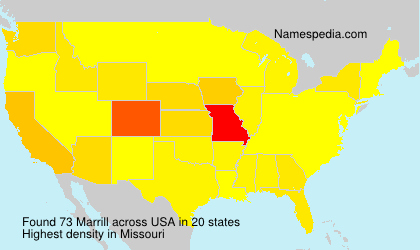 Surname Marrill in USA
