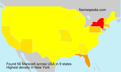 Surname Marsceill in USA