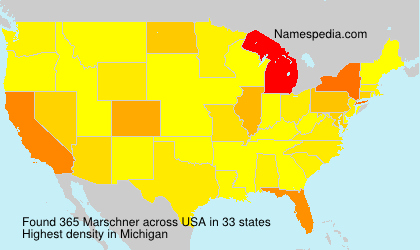 Surname Marschner in USA