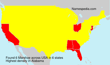 Surname Marshae in USA
