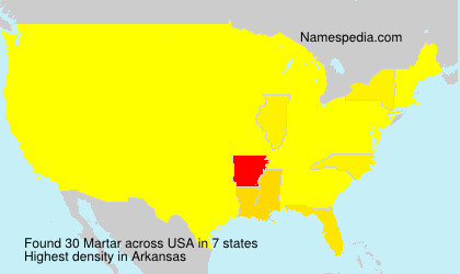 Surname Martar in USA