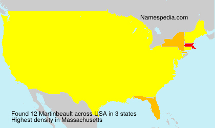 Surname Martinbeault in USA
