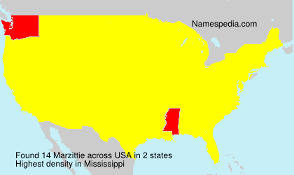 Surname Marzittie in USA
