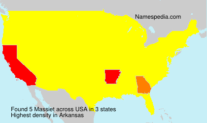 Surname Massiet in USA