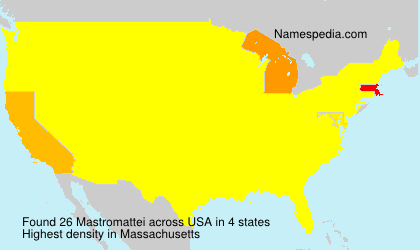 Surname Mastromattei in USA