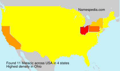 Surname Matacic in USA