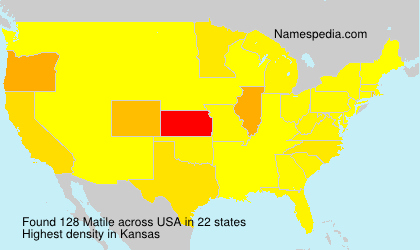Surname Matile in USA