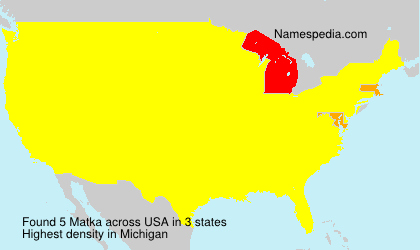 Surname Matka in USA