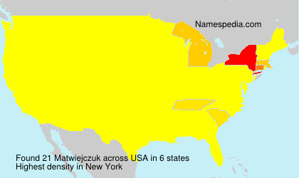 Surname Matwiejczuk in USA