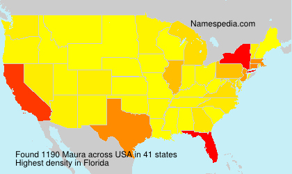 Surname Maura in USA