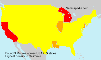 Surname Maures in USA