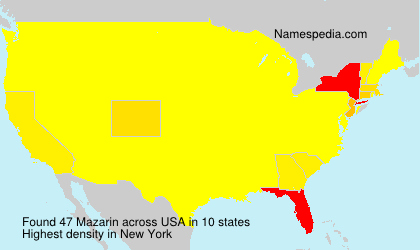 Surname Mazarin in USA