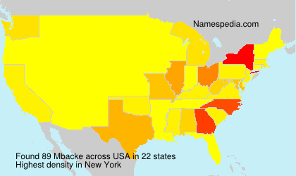 Surname Mbacke in USA