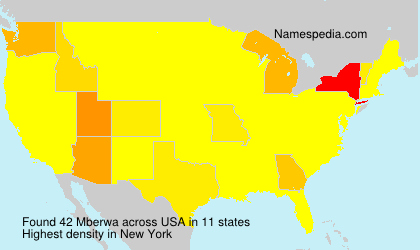 Surname Mberwa in USA