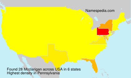 Surname Mcclarigan in USA