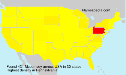 Surname Mccomsey in USA