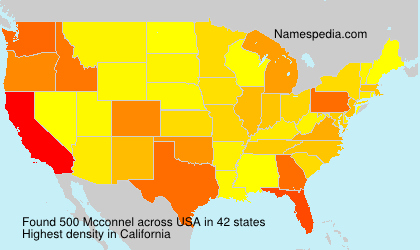 Surname Mcconnel in USA