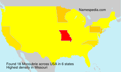 Surname Mccoubrie in USA