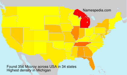 Surname Mccroy in USA