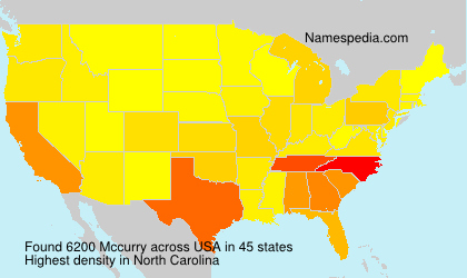 Surname Mccurry in USA