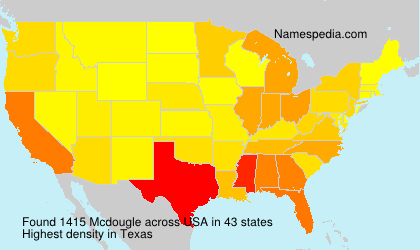 Surname Mcdougle in USA