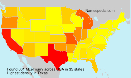 Surname Mcelmurry in USA