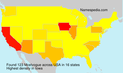 Surname Mcelvogue in USA