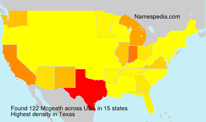 Surname Mcgeath in USA
