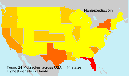 Surname Mckracken in USA