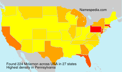 Surname Mclarnon in USA