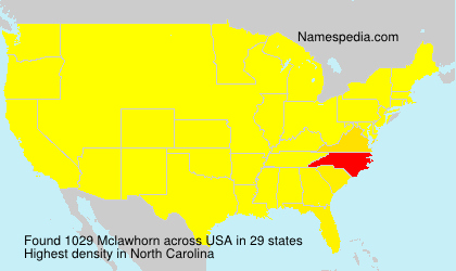 Surname Mclawhorn in USA