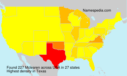 Surname Mclearen in USA
