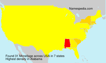 Surname Mcnellage in USA