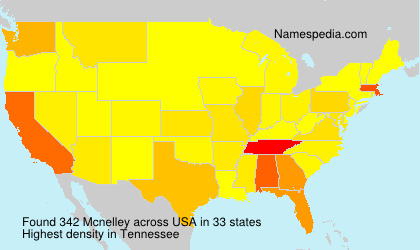 Surname Mcnelley in USA