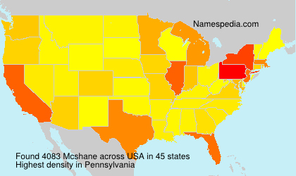 Surname Mcshane in USA