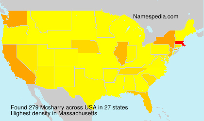 Surname Mcsharry in USA
