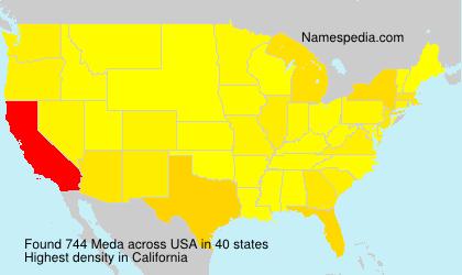 Surname Meda in USA