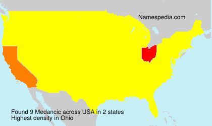 Surname Medancic in USA