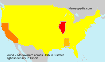 Surname Medavaram in USA