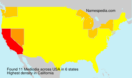 Surname Mediodia in USA