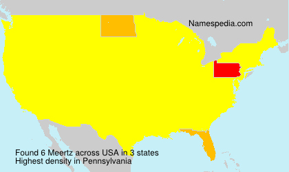 Surname Meertz in USA