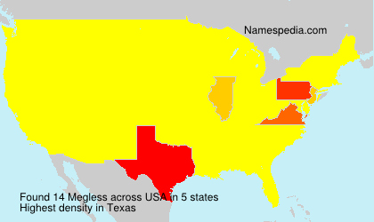 Surname Megless in USA