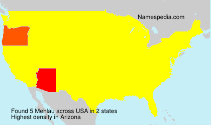 Surname Mehlau in USA