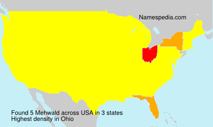 Surname Mehwald in USA