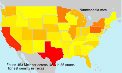 Surname Meinzer in USA