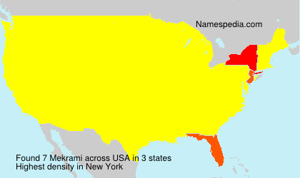 Surname Mekrami in USA