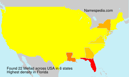 Surname Mellad in USA